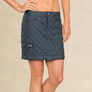 Snow Stomper Quilted Gray Skirt by Athleta Size 0